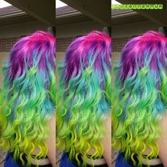 Pravana Vivids Locked In Rainbow Hair Color neon Yeah so my hair could totally do something like this.