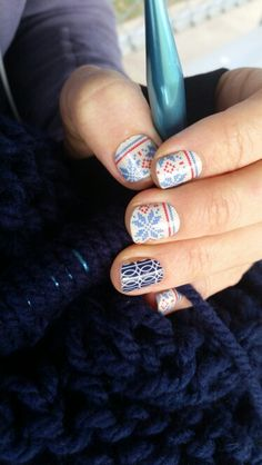 Jamberry nail art sweater weather mad mod manicure pedicure designs