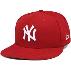 New York Yankees Red Basic 59FIFTY Fitted Cap 159a7ec3e4c