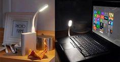 COMPRINHA DE HOJE! Luminária USB. Para você que trabalha a noite no notebook uma ótima alternativa para economia de energia. Se acoplada a uma bateria externa vira uma luminária super fashion. Clique na imagem para direcionar a página do produto!