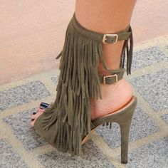 Fringe Frenzy Stiletto