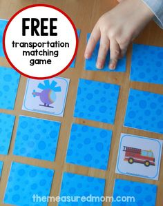 Are you doing a preschool transportation theme?  Print this FREE transportation matching game.