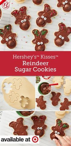 Let kiddos take the reins decorating these chocolaty sugar cookies. So cute and so easy!