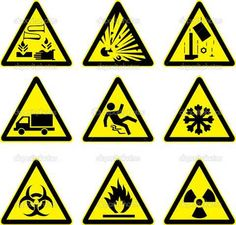 Warning signs set | Stock Vector © Iulia Brovchenko #5054557