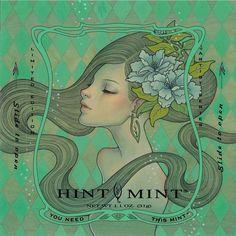 """Lilian"" Hint Mint by Audrey Kawasaki"