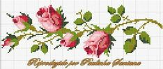 This Pin was discovered by ΕΛΕ Beaded Cross Stitch, Cross Stitch Rose, Cross Stitch Borders, Cross Stitch Flowers, Cross Stitch Charts, Cross Stitching, Cross Stitch Embroidery, Embroidery Patterns, Cross Stitch Patterns