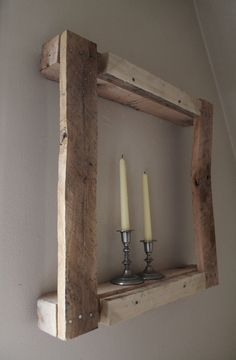 rustic frame shelf (eArbol on @Etsy)