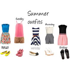 summer outfits for a vacation week