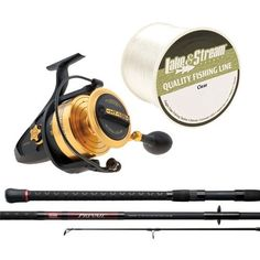 Penn Surf Fishing Combo - 9' Prevail Surf Spinning Rod - Spinfisher V Fishing Reel SSV10500 - 275yds Clear Mono Fishing Line * Find out more about the great product at the image link.
