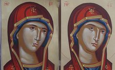 Σπουδή στον κόπο των μαθητών Byzantine Icons, Byzantine Art, Religious Icons, Religious Art, Face Lightening, Russian Icons, Sacred Art, Three Dimensional, Art Pieces