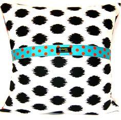 Fire Blossom Pillow, reverse side. Envelope style. www.bluethistlearts.com