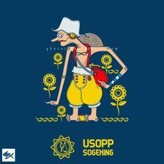 Usopp Wayang One Piece - Straw Hat Pirates by Manzur Ghozaali, via Behance