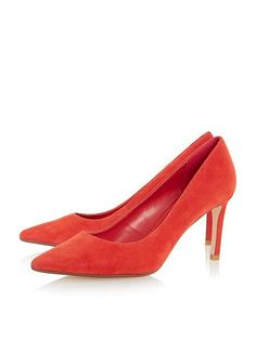 Dune Abbigal pointed toe mid heel court shoes Orange - House of Fraser