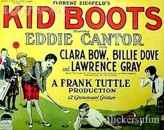The Beautiful New - Clara Bow & Eddie Cantor (under the sheet) in ...