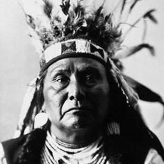 photo of Chief Joseph wearing a headdress