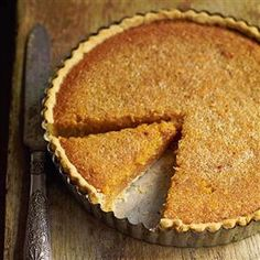 "Classic treacle tart ( the ""treacle"" is golden syrup. Corn syrup is not a substitute Tart Recipes, Sweet Recipes, Dessert Recipes, Cooking Recipes, Cake Recipes Uk, Cuban Recipes, Recipes Dinner, Banoffee Pie, Sweet Pie"