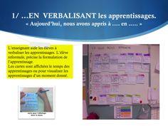 L'évaluation formatrice dans la démarche des cartes d'apprentissage - Le remue-méninges d'Élise