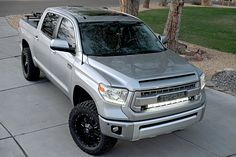 Desert Dawg - Toyota Tundra 1794 Edition Relocated Rigid 30-inch LED light bar behind grille