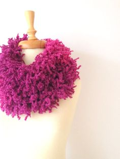Pink to Fuchisa  Long Scarf Women Scarf Pink by allapples on Etsy