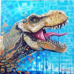 T-Rex painting by rvanni_arts