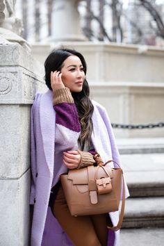 A Casual Winter Look in Lavender and Chestnut - Wendy's Lookbook