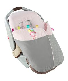 Taggies Gray & Light Pink Snuggle 'n' Stroll Carrier Blanket by Taggies #zulily #zulilyfinds