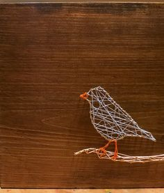 """bird string art   Be the first to review """"Bird on a Branch"""" Cancel reply"""