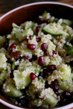 Komkommer Granaatappel Quinoa Salade   De Bakparade