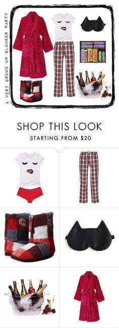 """""""A Grown Up Slumber Party"""" by salstan ❤ liked on Polyvore featuring Sleepy Jones, Bedroom Athletics, Prodyne, Roberto Cavalli and slumberparty"""