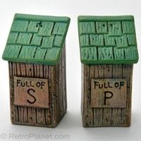 Outhouse Salt & Pepper Shakers - Ha!