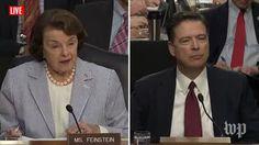 Dianne Feinstein, James Comey | Live: Former FBI Director James Comey Testifies Before Congress (2017 broadcast) via Washington Post (YouTube channel)