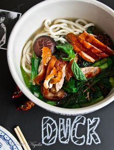 Peking Duck noodle soup @ Not Quite Nigella