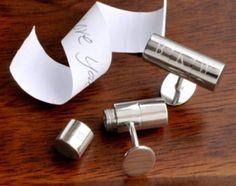Secret Message Cuff Links - Necessary Coolness