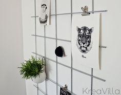 Opslagstavle af metalgitter DIY – Kreavilla