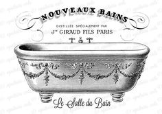 French Bath Decor Le Salle du Bain Victorian by UpstairsCats