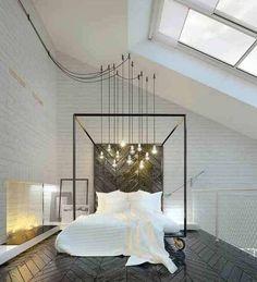 Illuminazione camera da letto - Camera di design