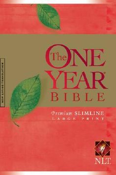 One Year Premium Slimline Bible-NLT-Large Print. Unearth a lifetime of truth when you commit to daily study of #God's Word!  Millions of people have benefited from reading through God's entire Word by using The One Year Bible. You can too! Now there's a special Premium Slimline Large Print edition! This best-selling daily reading Bible divides the text into 365 sections, so you can read through the entire #Bible in one unforgettable year-in as little as 15 minutes a day!