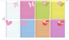 Foxy Butterflies Notebook Paper Planner Sticker/ Erin Condren Full Box…