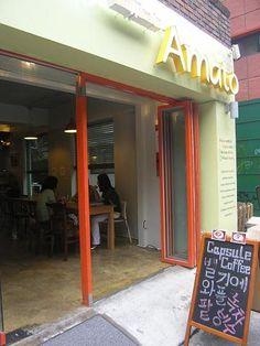 Waffles in Amoto near Hongik university, Seoul, South Korea  http://cafeddee.com/?p=84