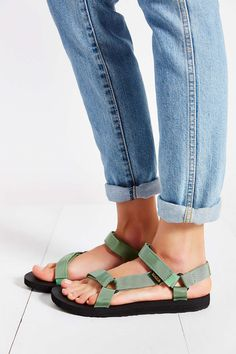 b5308cc70b3c I love the authentic 90s colors of this vegan teva sandals. 90s Shoes
