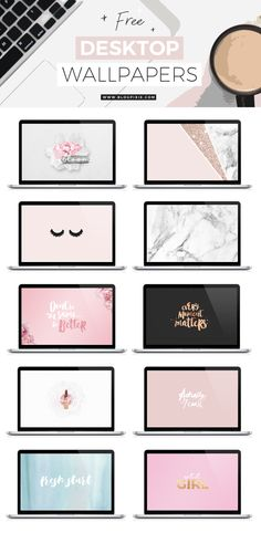 Happy new year everyone! Thought I'd kick things off with some new desktop wallpapers, free for you to download for personal use! I've made 10 downloadable backgrounds for you, some images you may have seen before on Flip And Style, others I've created this new year weekend. Lots of pink, rose gold, glitter, blush, flowers,…
