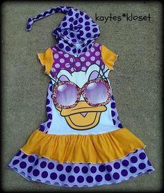 Daisy Duck Upcycle Tee Dress