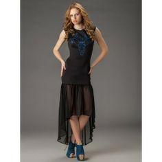 Vestido Negro Largo Asimetrico VL73 Vestidos Sexy, High Low, Dresses, Fashion, Stylish Dresses, Long Gowns, Black Sundress, Hot Clothes, Clothing Stores