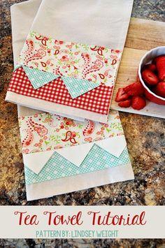 Prairie Point Tea Towels Tutorial - Quilting Digest
