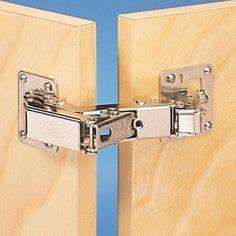 175 Degree Fully Concealed Hinges, Pair - Rockler Woodworking Tools