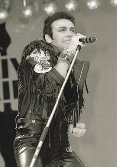 July 1985, Adam Ant performs at the Live Aid concert