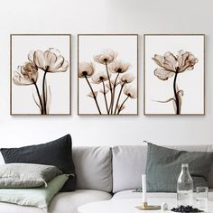 """""""Elegant Poetry Modern 3pcs Transparent Flower A4 Canvas Painting Art Print Poster Picture Home Wall Decoration Simple Wall Decor"""" Poster Pictures, Canvas Pictures, Home Decor Wall Art, Home Decor Items, Home Decoration, Forest Poster, Transparent Flowers, Cross Paintings, Painting Prints"""