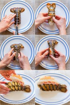 The ONLY Lobster Tails Recipe you'll need! Broiled lobster tails are juicy, flavorful, and quick to make! + How-To butterfly lobster tails photo tutorial! Baked Lobster Tails, Broiled Lobster Tails Recipe, Broil Lobster Tail, Cooking Lobster Tails, How To Cook Lobster, Frozen Lobster Tails, Lobster Dishes, Lobster Recipes, Fish Dishes