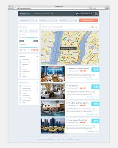 Travel Deals Site / Roberto Nickson / #map #travel #search