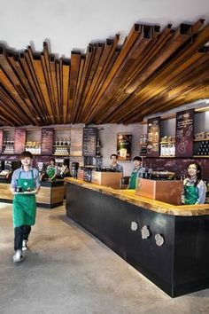 Starbucks Launches Two Iconic Flagship Stores in China - . Starbucks Launches Two Iconic Flagship Stores in China – Coffee Shop Design, Cafe Design, Bistro Design, Design Design, Commercial Design, Commercial Interiors, Starbucks Store, Plafond Design, Ceiling Treatments